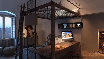 Dormitorios infantiles de estilo rústico por FRANCESCO CARDANO Interior designer