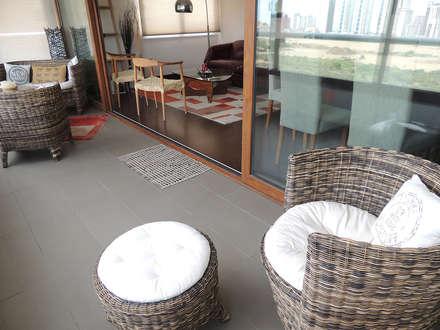 Depto Reñaca Viña del Mar : Terrazas  de estilo  por Kaa Interior