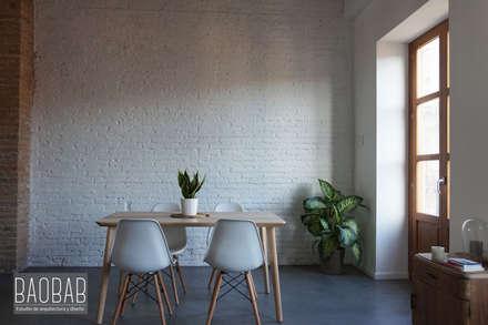 Casa Industrial: Comedores de estilo industrial de Baobab Arquitectura