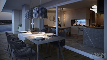 Anna Claudia Apartment : Terrazza in stile  di FRANCESCO CARDANO Interior designer