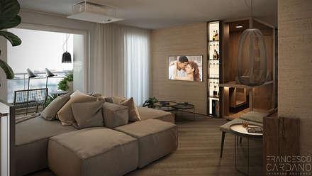 Anna Claudia Apartment : Soggiorno in stile in stile Industriale di FRANCESCO CARDANO Interior designer
