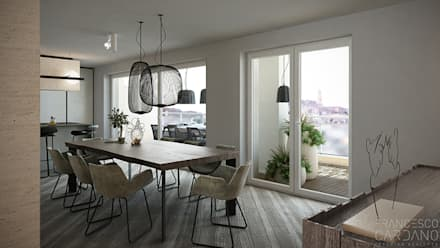 Anna Claudia Apartment : Sala da pranzo in stile in stile Industriale di FRANCESCO CARDANO Interior designer