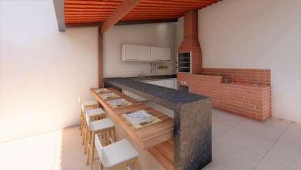 Módulos de cocina de estilo  de TRAIT ARQUITETURA E DESIGN