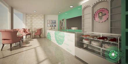 Projecto 3D - interior de loja: Espaços de restauração  por Espaços Renovados