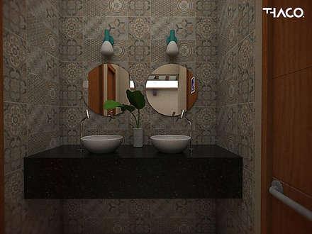 ห้องน้ำ by THACO. Arquitetura e Ambientes