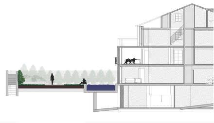 Edifício São José : Jardins de fachada  por Claudia Gomes