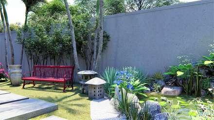 Jardim Zen: Jardins zen  por Trivisio Consultoria e Projetos em 3D