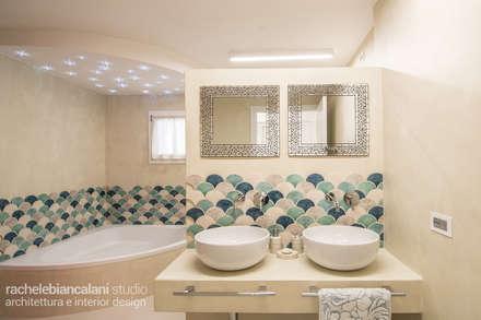 mediterranean Bathroom by Rachele Biancalani Studio
