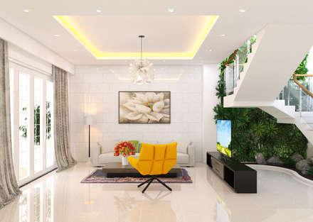 : mediterrane Wohnzimmer von laixaynhapho92