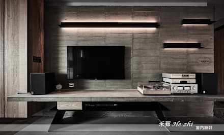 Paredes de estilo  por 禾郅 室內設計