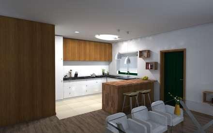 Remodelação Interior de Habitação: Cozinhas asiáticas por ruicosta.arquitecto
