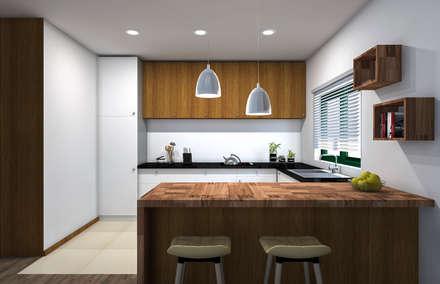 Cocinas de estilo asiático por ruicosta.arquitecto