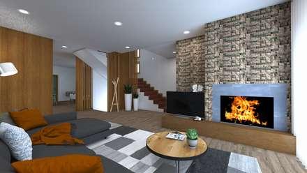 Remodelação Interior de Habitação: Salas de estar asiáticas por ruicosta.arquitecto