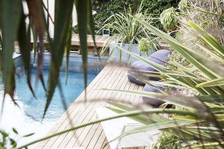 Sognavo Miami: Giardino con piscina in stile  di gambardella e  rossi architetti