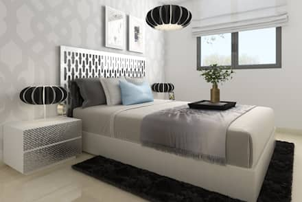 modern Bedroom by Taller de Interiores Mediterraneos