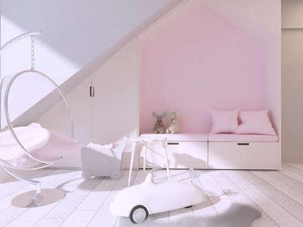 Habitaciones de niñas de estilo  de Mono architektura wnętrz Katowice