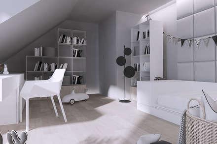 Dormitorios juveniles  de estilo  por Mono architektura wnętrz Katowice