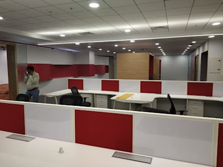 Office work:  Offices & stores by unlimteddesigns/bansal designs