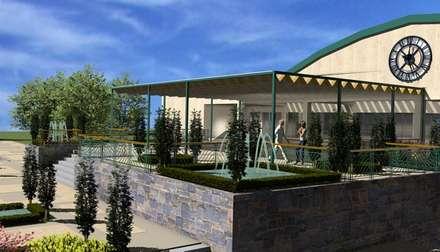 Terraza sala de fiesta: Salones de eventos de estilo  de CADOT