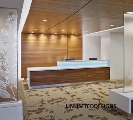 office Reception:  Offices & stores by unlimteddesigns/bansal designs