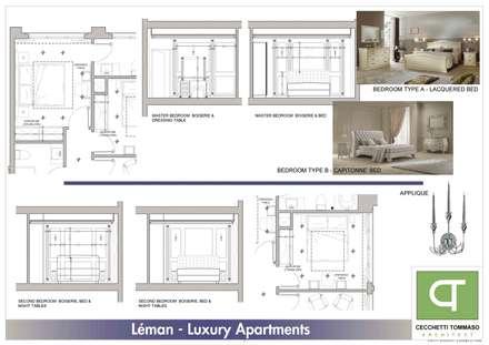 Progetto per arredo classico - appartamenti in complesso residenziale: Camera da letto in stile in stile Classico di Architetto Libero Professionista