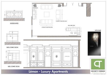 Progetto per arredo classico - appartamenti in complesso residenziale: Pareti in stile  di Architetto Libero Professionista
