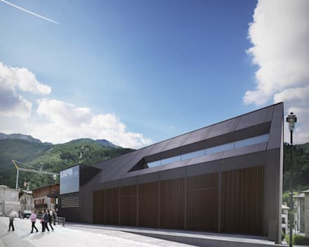 Primo Premio concorso pubblico: edificio scolastico polifunzionale: Casa prefabbricata  in stile  di Architetto Libero Professionista