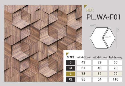 Pladec - Origami Collection: Escritórios  por CreativeArq