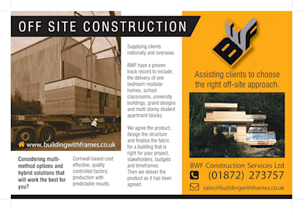 Off Site Construction:  Prefabricated home by Building With Frames