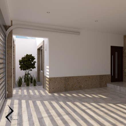 Garajes abiertos de estilo  de RJ Arquitectos