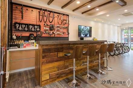 Oficinas y Tiendas de estilo  de 沙瑪室內裝修有限公司