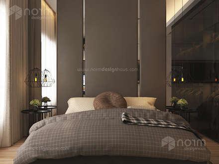 Residence 22, Mont Kiara: modern Bedroom by Norm designhaus