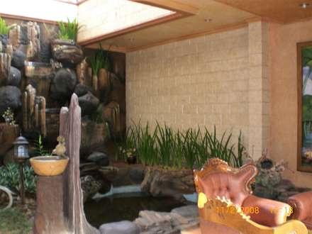 rustic Garden by Amirul Design & Build
