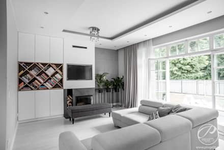 modern Living room by Progetti Architektura