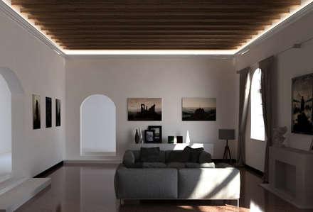 Cornice per led classica a soffitto - EL701: Soggiorno in stile in stile Rustico di Eleni Lighting
