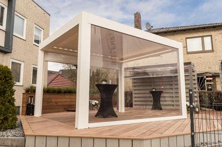 """Ausstellung Outdoor-Living Sonnenschutz - """"Corradi Maestro"""":  Ladenflächen von Bielenberg - Sonnenschutz"""