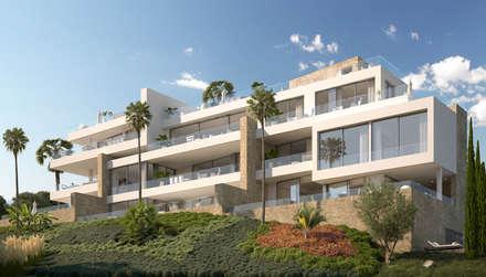 Fachada: Casas multifamiliares de estilo  de ÁVILA ARQUITECTOS