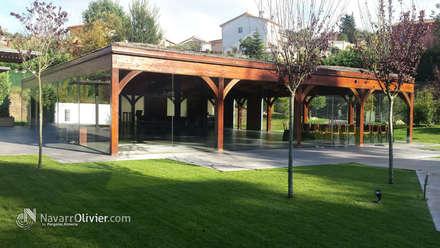 Construcción estructural en madera laminada: Salones de eventos de estilo  de NavarrOlivier