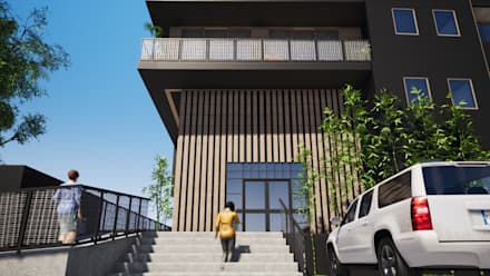 Log cabin by Trignum Arquitectura