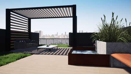 Jardines zen de estilo  por Trignum Arquitectura