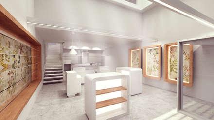 PROYECTO DE OFICINA DE FARMACIA: Estudios y despachos de estilo moderno de Elephantone Design Studio