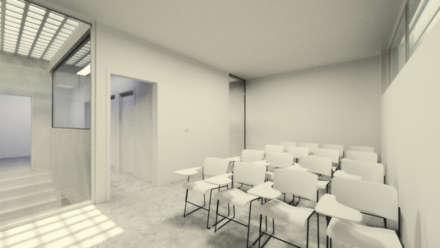 PROYECTO DE OFICINA DE FARMACIA: Salas multimedia de estilo moderno de Elephantone Design Studio