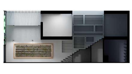 PROYECTO DE OFICINA DE FARMACIA: Escaleras de estilo  de Elephantone Design Studio