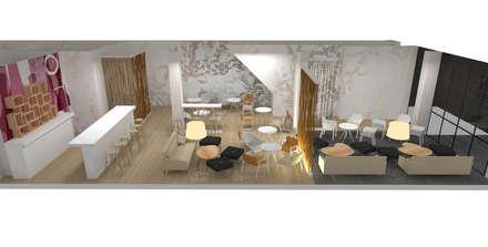 DISEÑO INTERIOR DE LOCAL: Casas de estilo ecléctico de Elephantone Design Studio