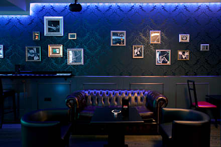 Diseño y decoración de un bar musical en Madrid: Bares y Clubs de estilo  de Muka Design Lab