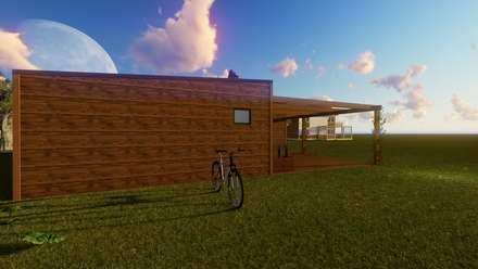 Modelo | T2 123m²: Casas pré-fabricadas  por Discovercasa | Casas de Madeira & Modulares