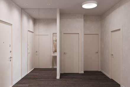 Квартира 63 кв.м.  в современном стиле в ЖК Континенталь.: Коридор и прихожая в . Автор – Студия архитектуры и дизайна Дарьи Ельниковой