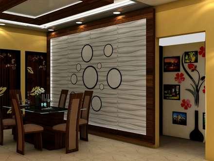 Sare Homes: classic Dining room by Saraswati Interior