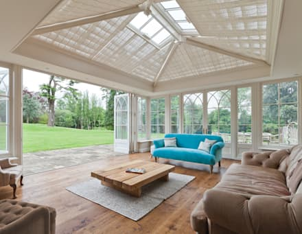 Orangery in Surrey Reflects the period details on the existing property.: classic Conservatory by Vale Garden Houses