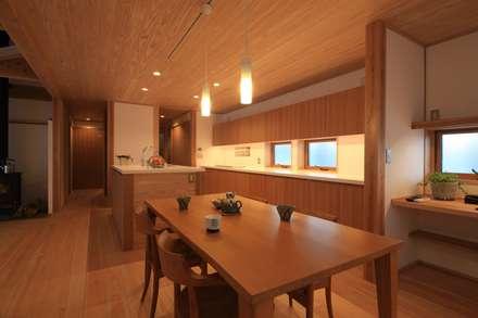 金山の家 群馬県太田市: 田村建築設計工房が手掛けたダイニングです。